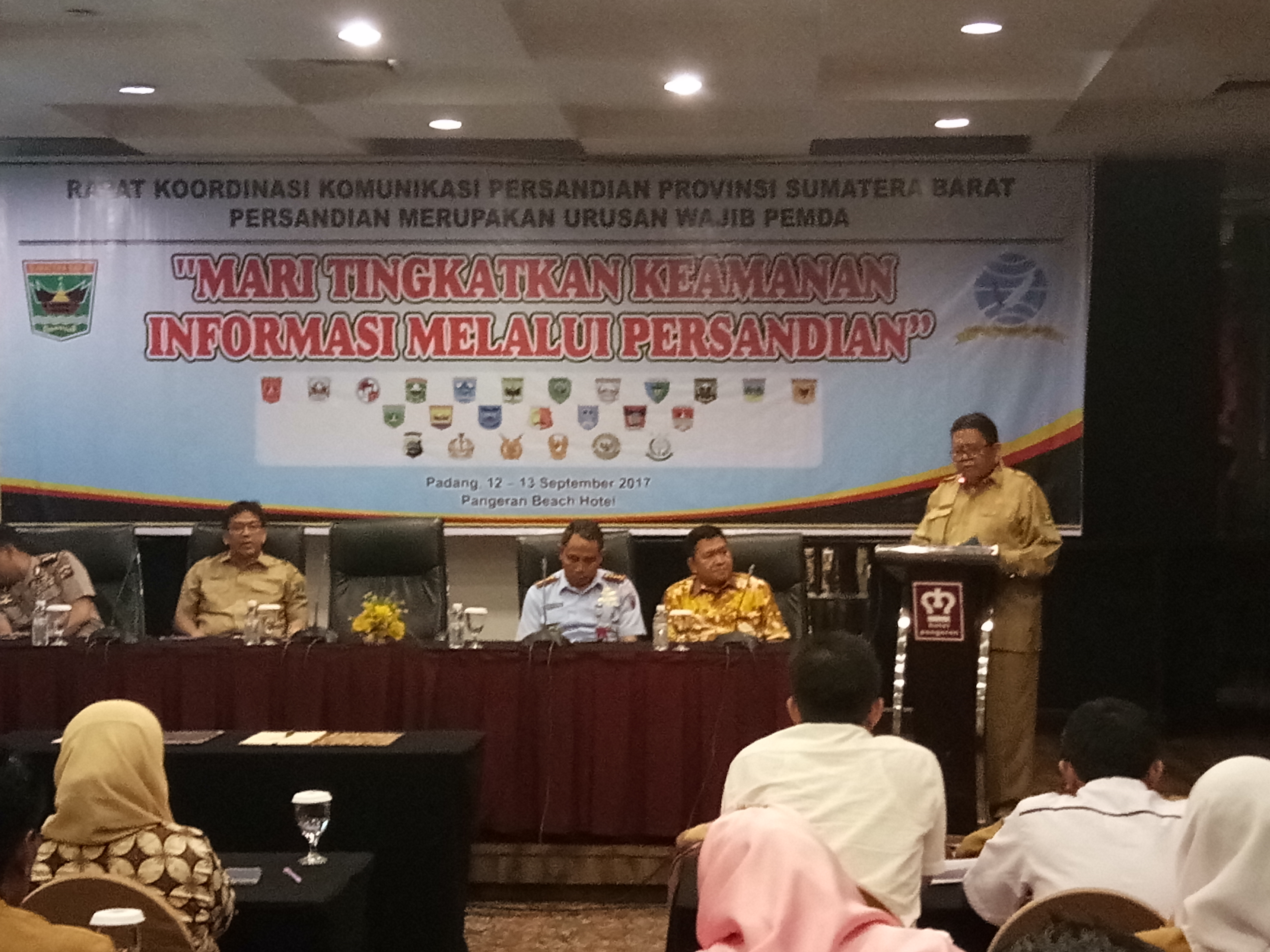 Rapat Koordinasi Komunikasi Persandian Provinsi Sumatera Barat Tahun 2017