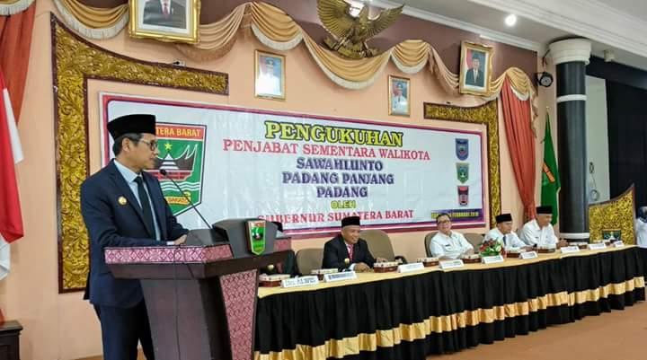 Gubernur Sumbar Tegaskan Pjs Walikota Wajib Pastikan Netralitas ASN