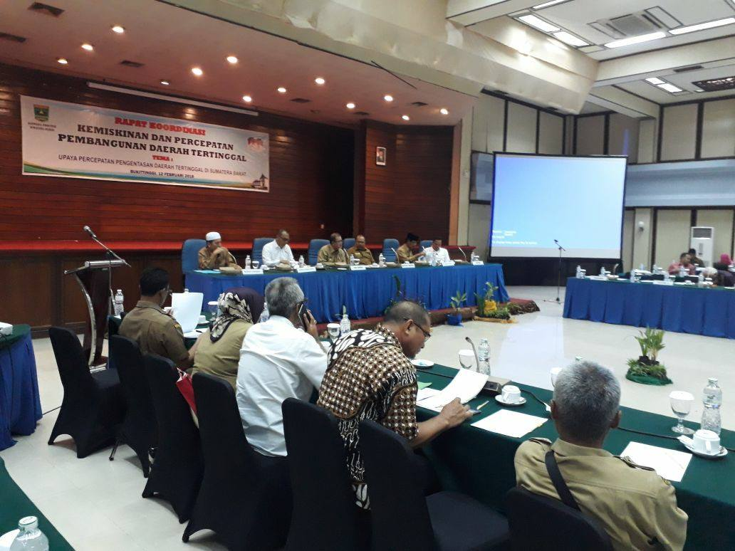 Wagub Nasrul Abit : Kita Berharap 3 Daerah Sumbar Lepas dari Daerah Tertinggal Tahun 2019
