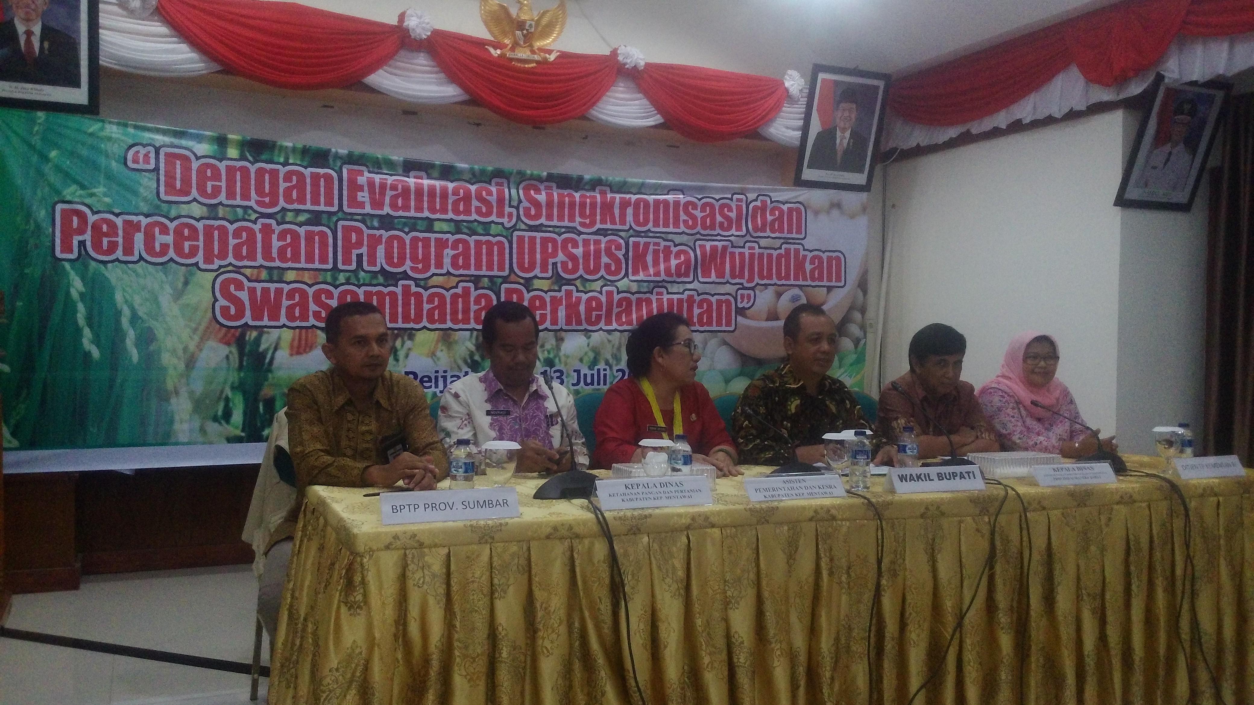 Wabup Mentawai Tutup Rakor UPSUS Pajale